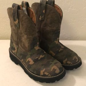 Ariat Fatbaby Boots Camo with Sparkles